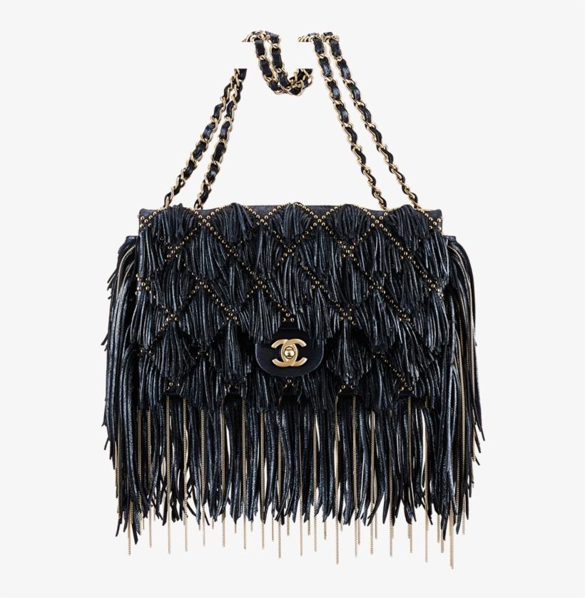 Chanel Embellished Fringe Flap Bag - Handbag PNG Image  1bbe66da71ef4