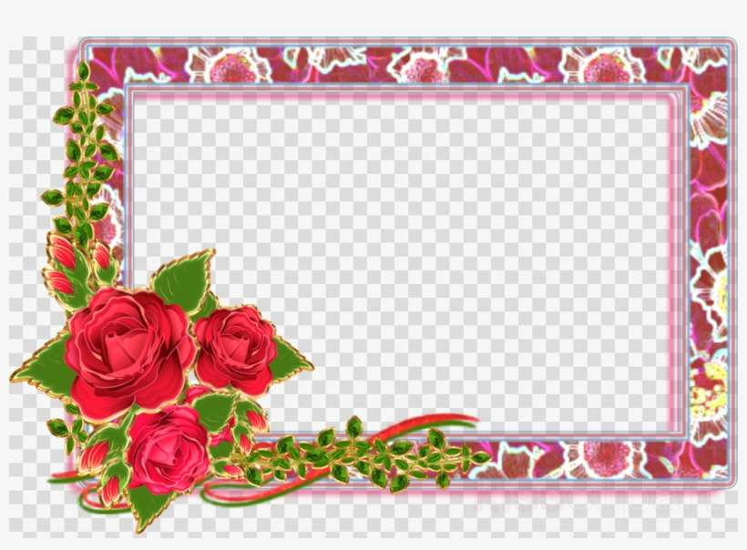 e1e988d809f Transparent Background Flower Frame Clipart Borders - Studio Background Psd  Free Download