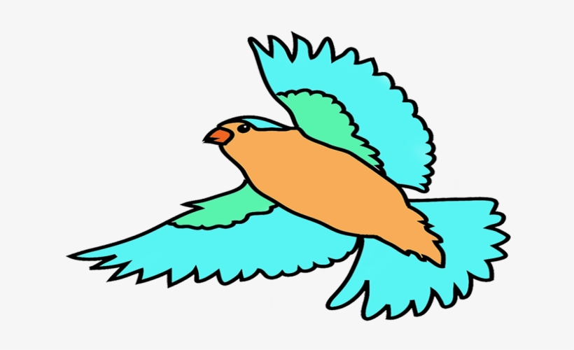 Bird Flying Clipart Colorful Flying Birds Drawing Png Image Transparent Png Free Download On Seekpng