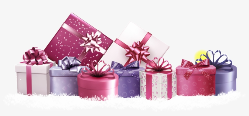 Pink Gift Box Snow Decoration Vector Pink Gift Boxes Vector Png Image Transparent Png Free Download On Seekpng