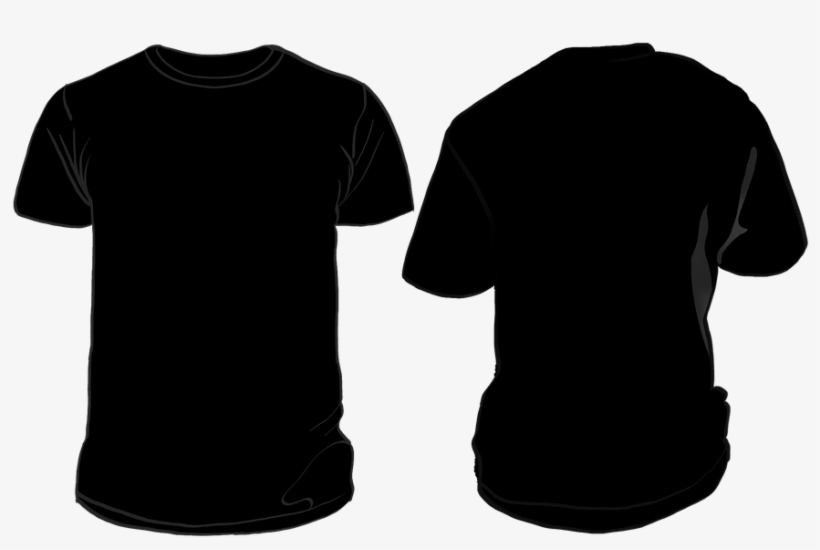 Black T Shirt Template Png - Black Shirt Front And Back Png@seekpng.com