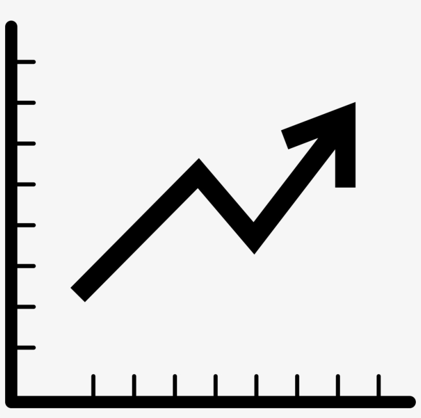 Line Graph Comments Black And White Icon Line Graph Png Image