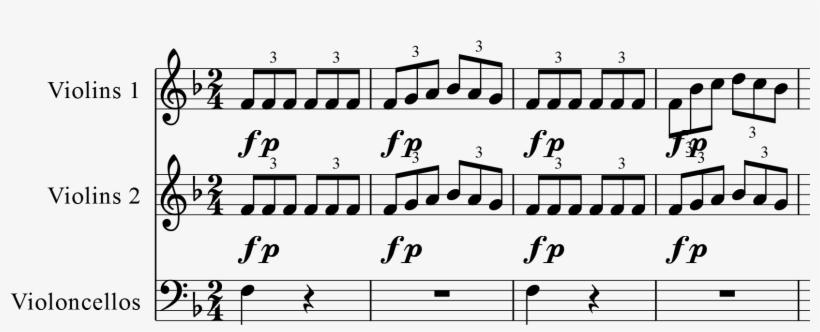 Mozart Symphony K98 Iv Bar1 4 - Sheet Music PNG Image | Transparent