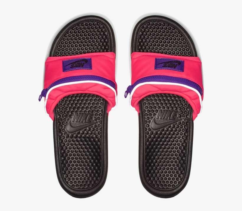 separation shoes 85575 2a706 Nike Benassi Fanny Pack Slides In Magenta - Nike Bum Bag Slides, transparent  png download