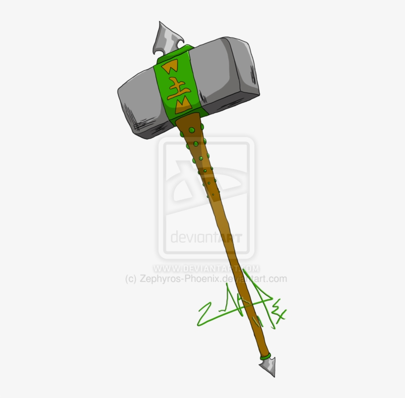 Gaia Hammer By Zephyros Phoenix-d4a997s - Mobile Phone PNG