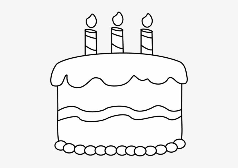 Birthday Black And White Cupcake Clipart Black And - Birthday Cake Png White@seekpng.com