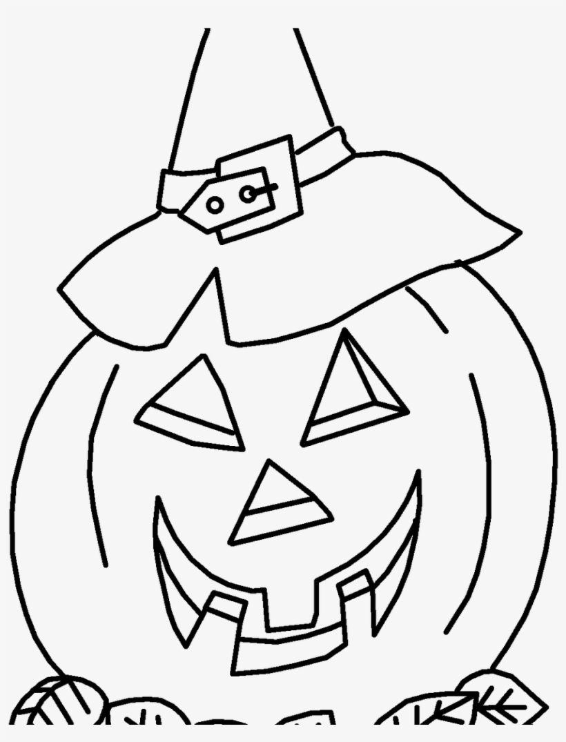 - Jack O Lantern Coloring Page With Printables - Halloween PNG Image