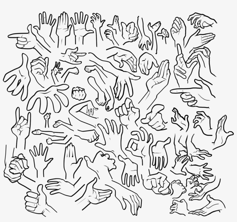Svg Freeuse Stock More Cartoon Hands Drawings , Cartoon Hand