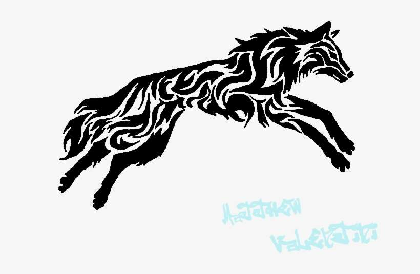 2e3a3685 Tribal Wolf Tattoo By Demonwolf993 On Deviantart - Wolf Tribal PNG ...