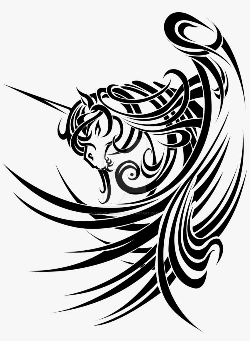 a4eadf499 Svg Free Download Designs On Abstract Tribals Deviantart - Tribal Unicorn  Tattoo Design
