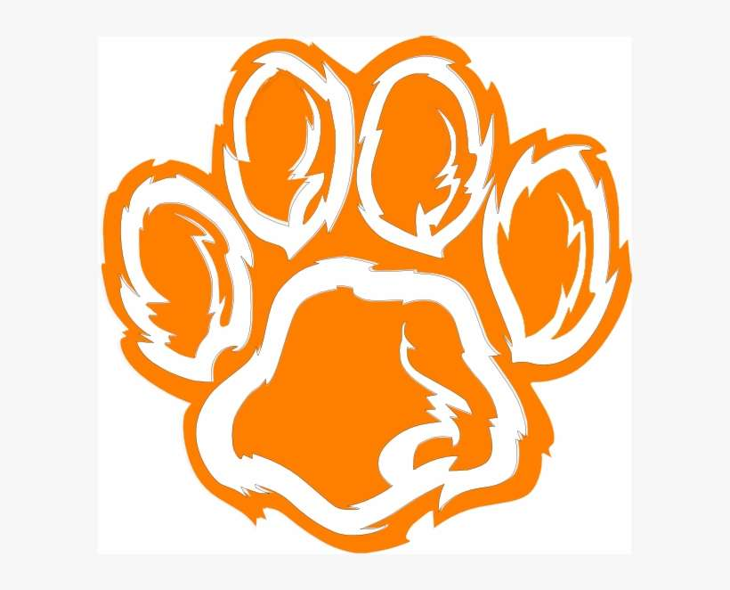 Tiger Paw Png - Wildcat Football Clip Art PNG Image