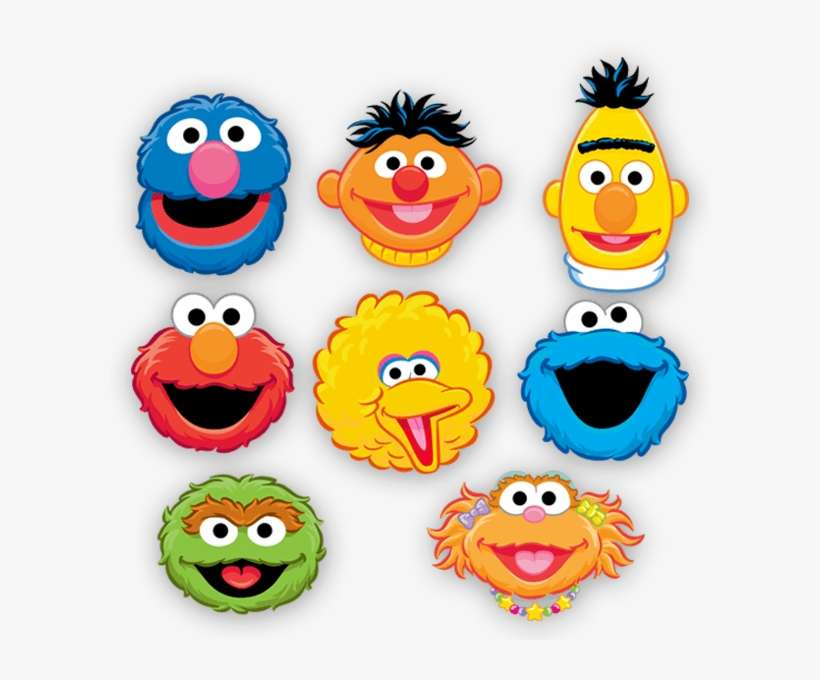 Sesame Street Characters Face Clipart