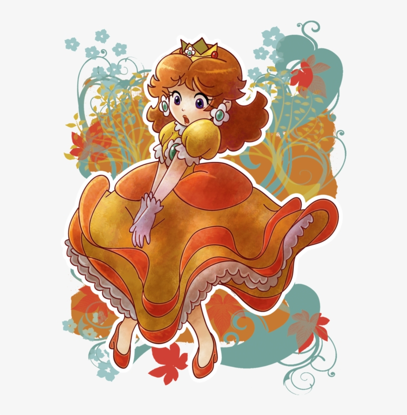 Download Princess Daisy Blowing Clipart Princess Daisy - Princess Daisy In The Wind@seekpng.com