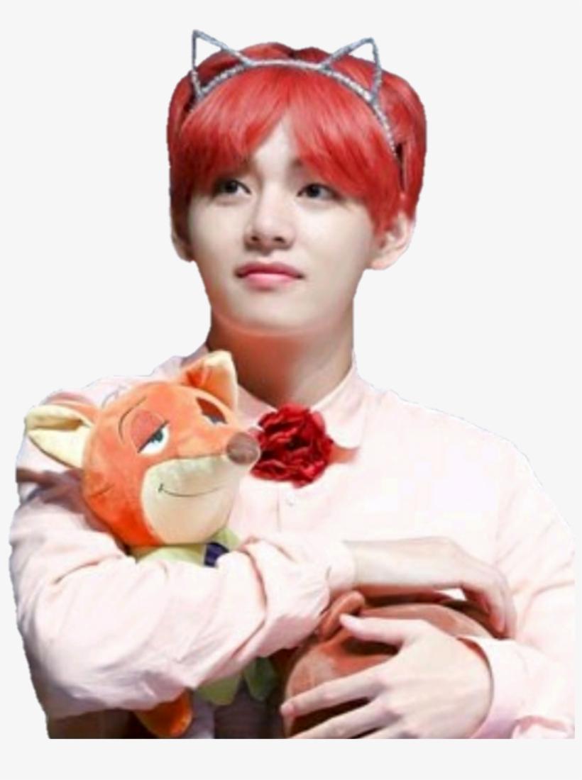 546 5460246 freetoedit taehyung bts red cat kpop taehyung little