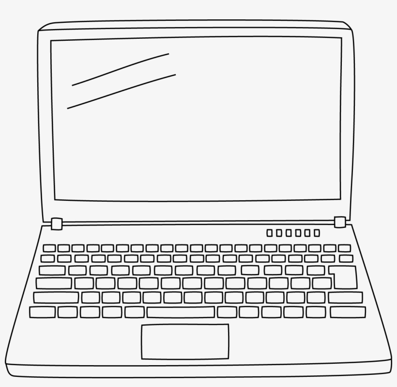 Laptop Doodle Png Gambar Laptop Animasi Png Image Transparent