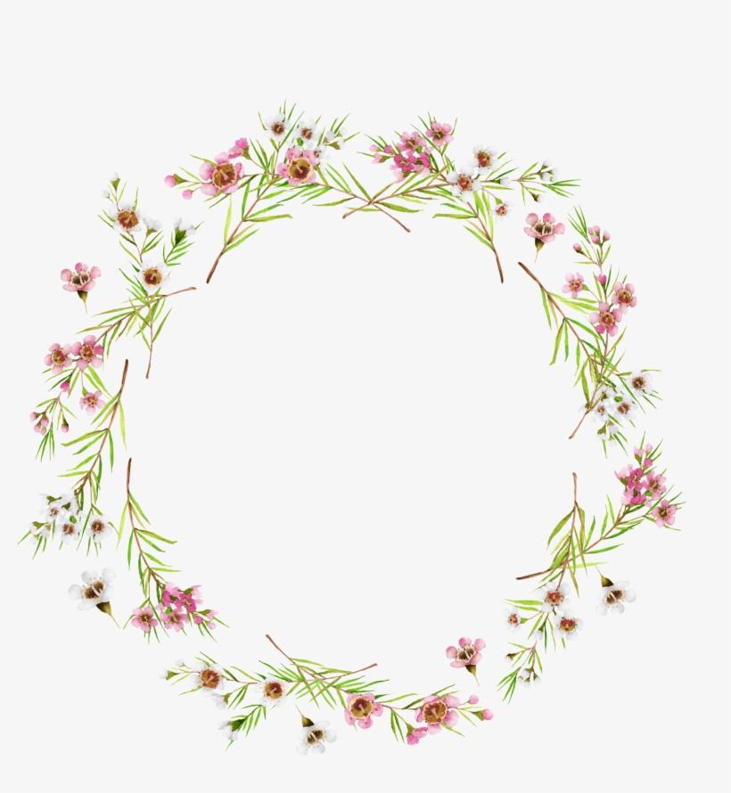 Circulo De Flores Flores Vintage Hojas Decoradas Flower Circle