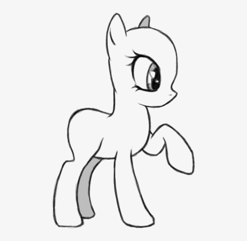Drawn Ponytail Outline Bald My Little Pony Coloring Png Image Transparent Png Free Download On Seekpng