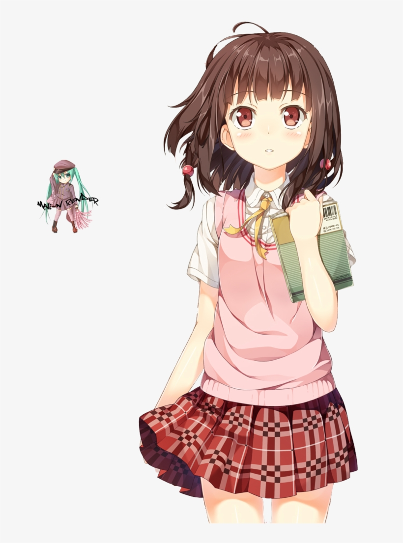 Anime Girl With Brown Hair Png Drawing Anime Girl Student Png Image Transparent Png Free Download On Seekpng