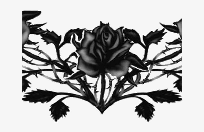 Rose Tattoo Png Transparent Images Black Rose Tattoo Png Png Image