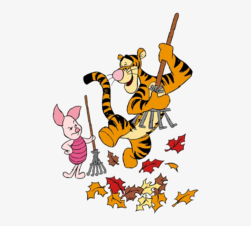 Winnie The Pooh Clipart Leave Raking Leaves Clipart Png Image