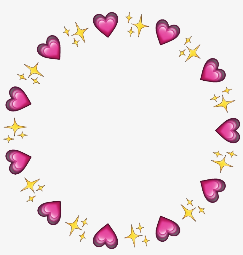 Circle Frame Circleframe Hearts Sparkles Emojis Icon - Heart Emojis