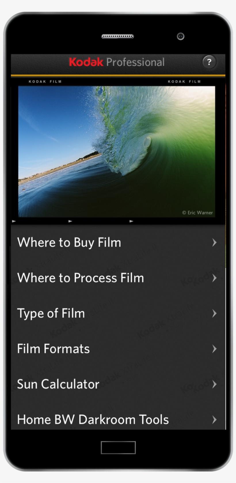 Kodak Professional Film App - Kodak Film Frame App PNG Image