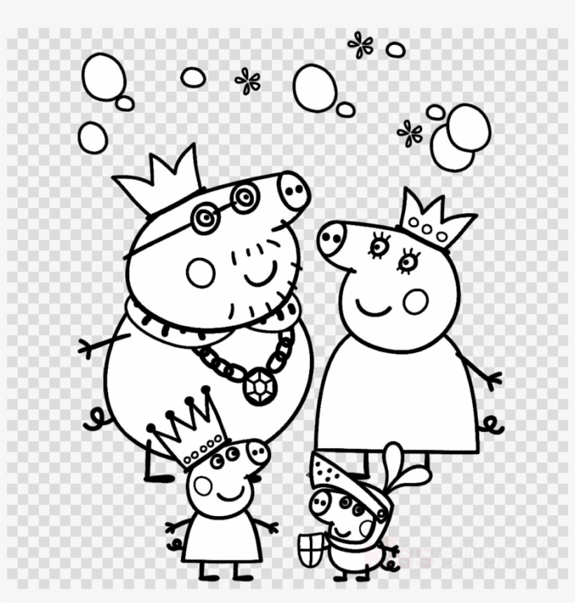 Peppa Pig Coloring Page 05 | Coloring Page Central | 860x820