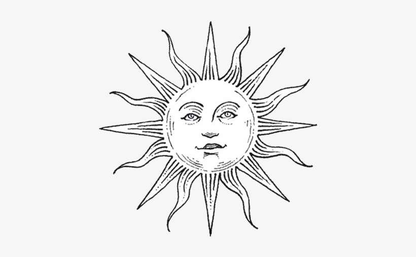 Half Sun Half Moon Drawing At Getdrawings