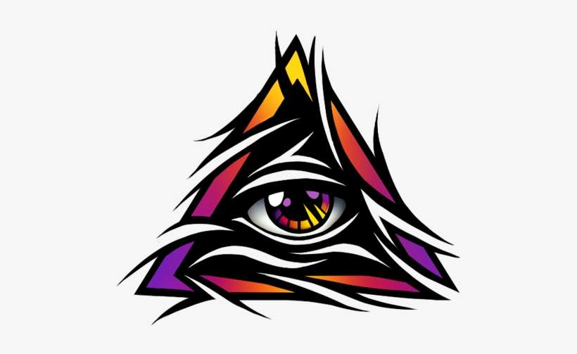Tribal Tattoo With Color: Tribal All Seeing Eye Tattoo Design