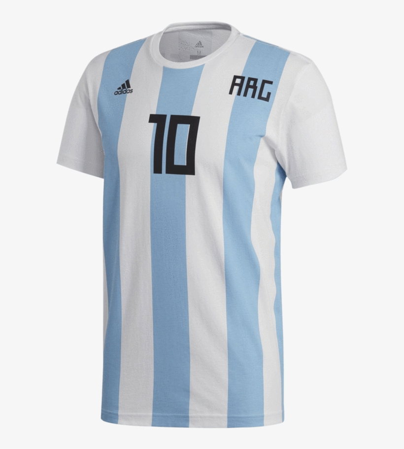 Adidas Kid S Argentina Football Messi Tee Messi Team T Shirt Png