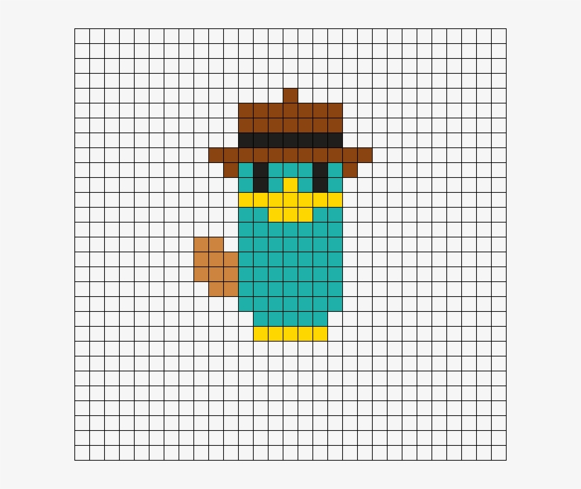 Phineas And Ferb Perler Bead Pattern Easy Cross Stitch Pattern