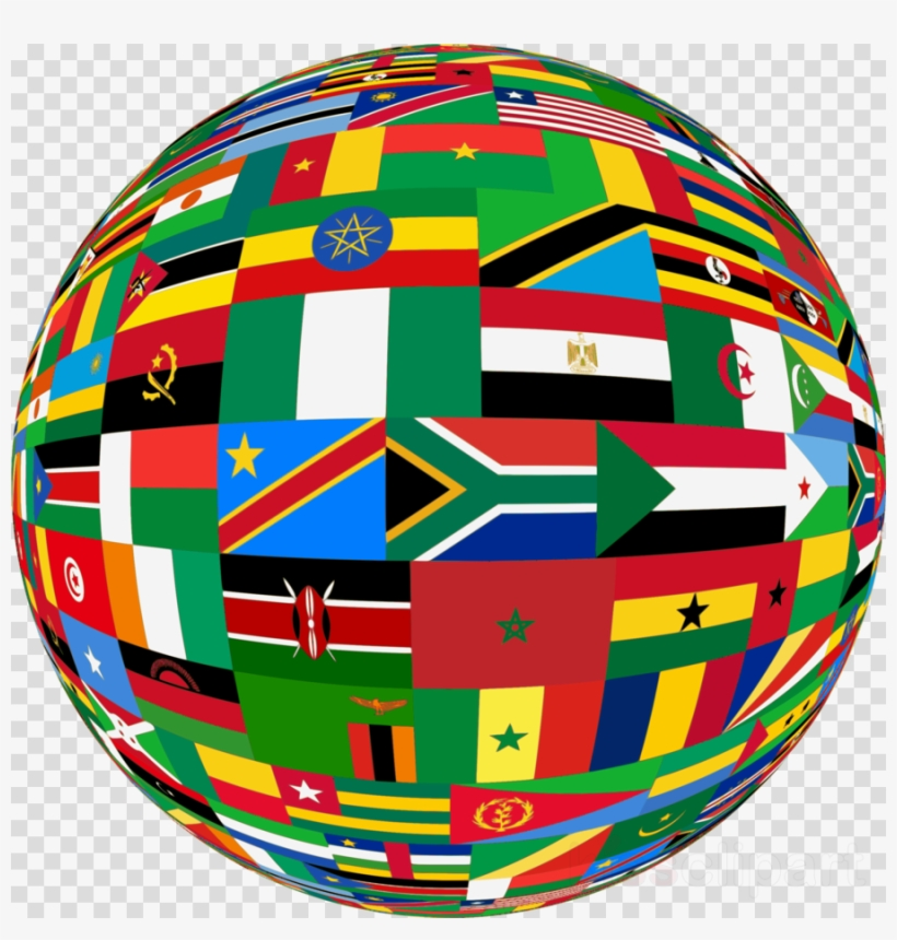 Africa Flags Globe Clipart Africa Flag Video - Combined