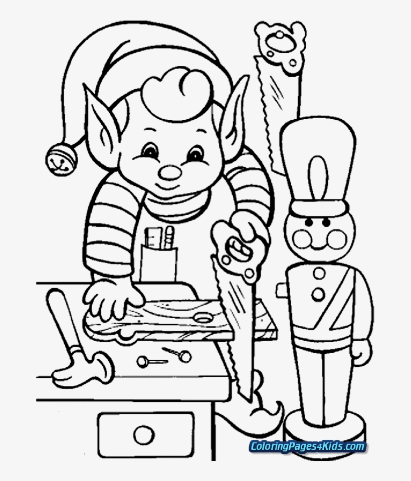 Elf On The Shelf Printable Coloring Pages Coloring Book Png Image Transparent Png Free Download On Seekpng