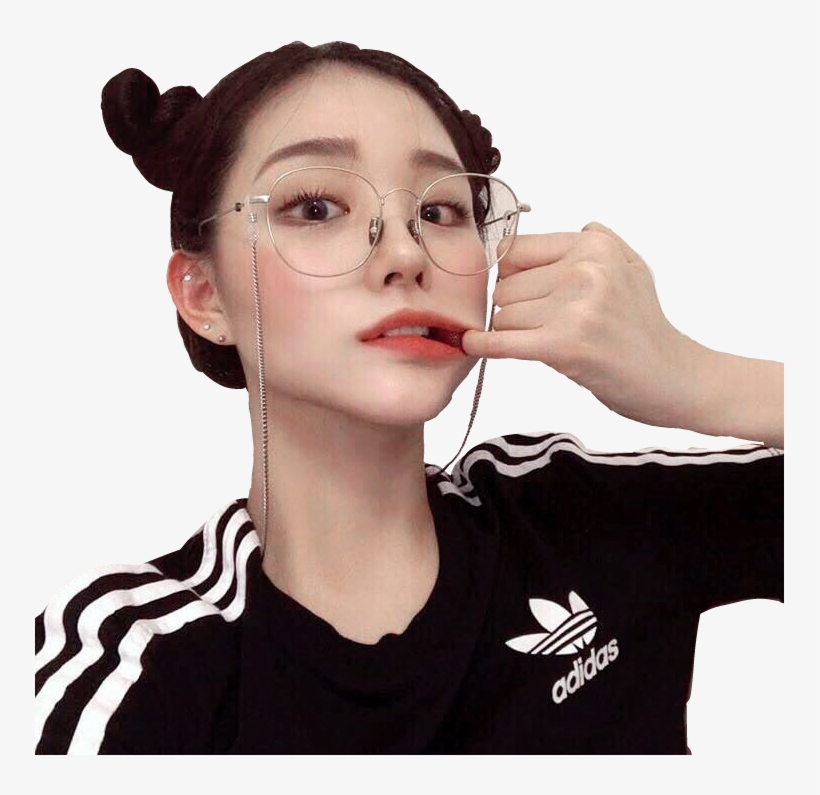 Ulzzang Korean Girl Sticker Dexd Insxde Png Uzzlang Cute Korean Girls Ulzzang Aesthetic Png Image Transparent Png Free Download On Seekpng
