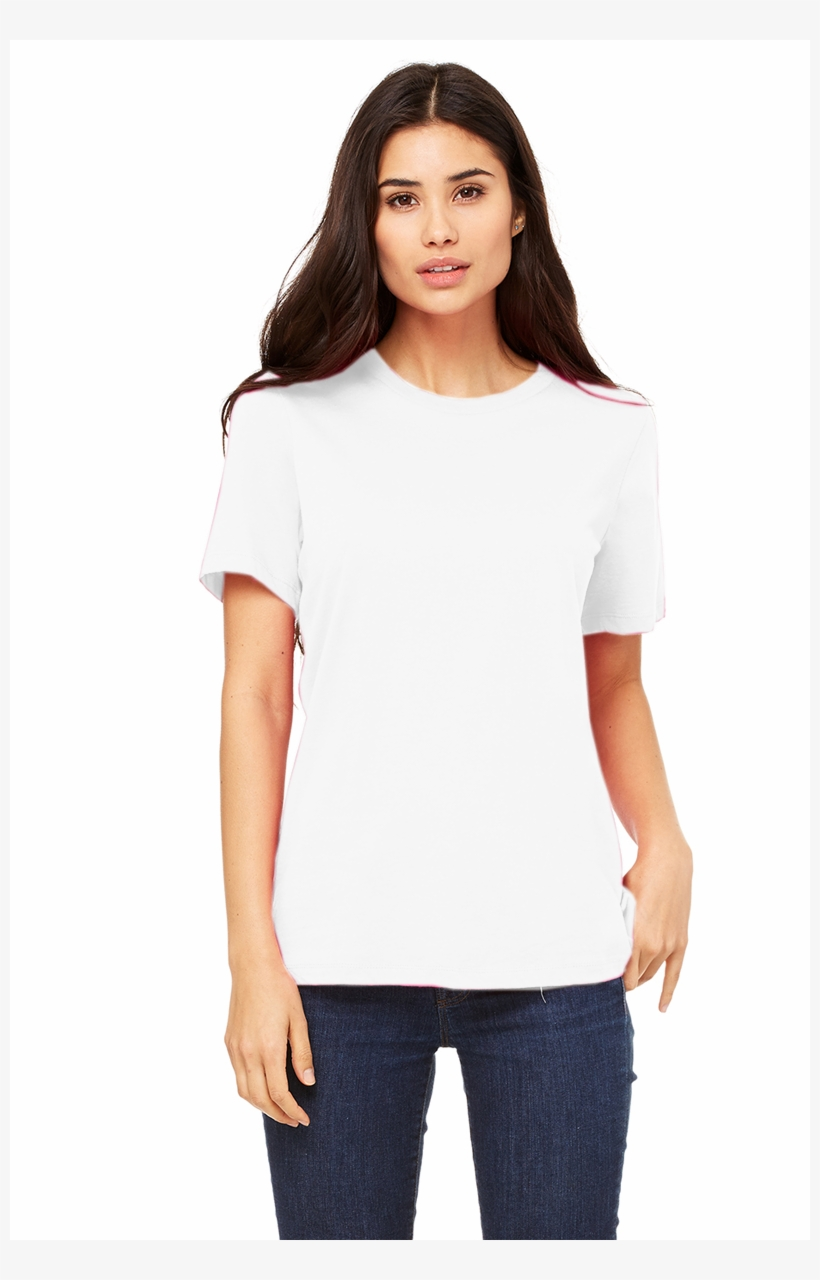 ea254303 Bella Canvas Women& - Bella 6400 Womens Relaxed Jersey Short Sleeve Tee  -, transparent png