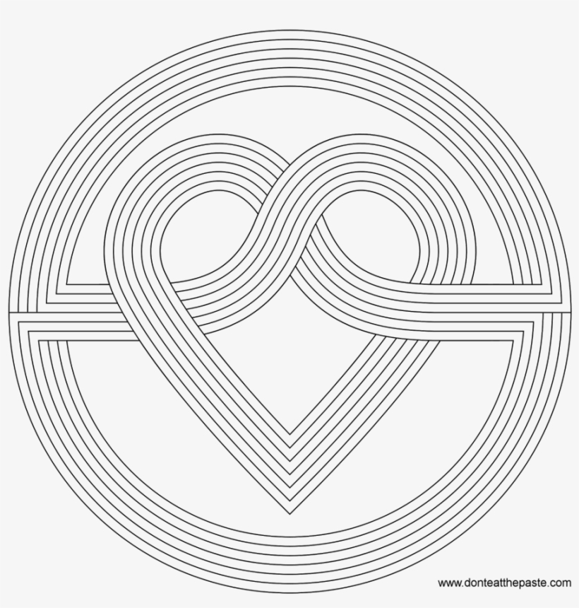 Printable 16 Geometric Heart Coloring Pages Rainbow Heart Coloring Page Png Image Transparent Png Free Download On Seekpng