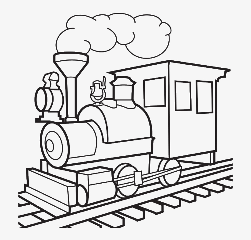 Train Drawing - Train Colouring Pages Png PNG Image Transparent PNG Free  Download On SeekPNG
