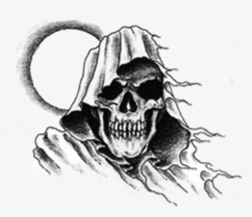 b765e9affa6ee Chest Tattoo Transparent Png - Grim Reaper Head Tattoo PNG Image ...