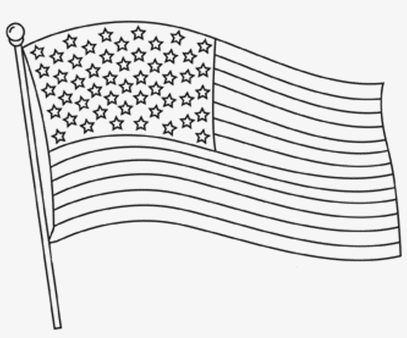 - American Flag Coloring Page For The Love Of The Country - American Flag  Clipart Black And White PNG Image Transparent PNG Free Download On SeekPNG