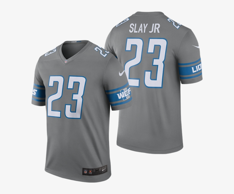 wholesale dealer ee715 b667e Nike Detroit Lions Dark Steel Gray Darius Slay Jr - Darius ...