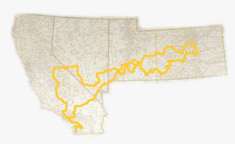 Map Of The Southwest With Routes - Southwestern United States PNG ...