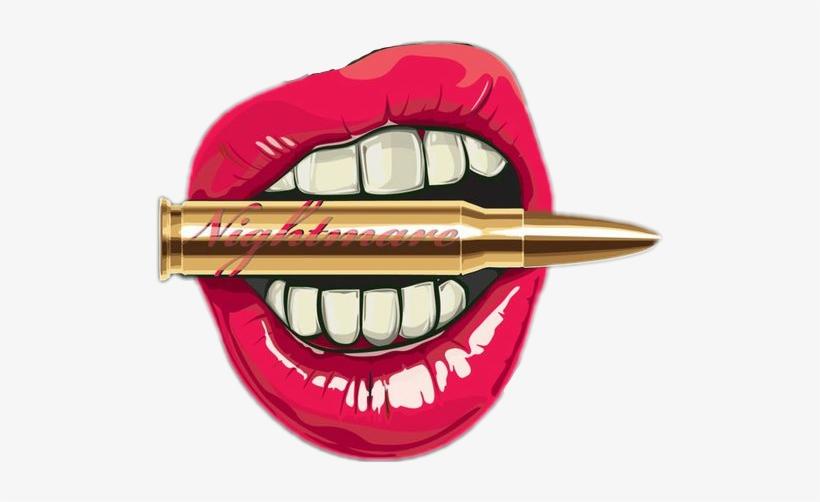 Sticker Lips Bullet Badass Wallpapers