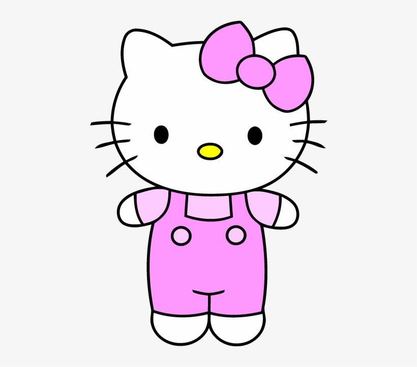 Hello Kitty Very Easy Cartoon Drawing Png Image Transparent