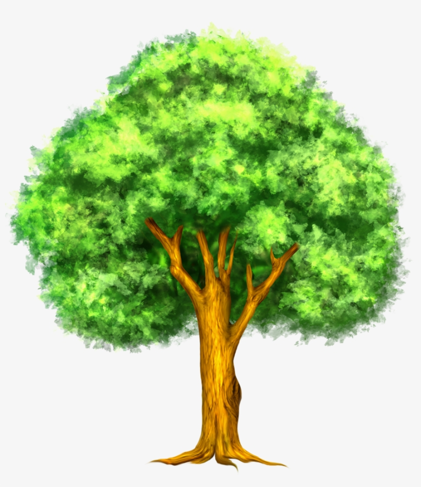 Hand-Painted Watercolor Tree Clipart