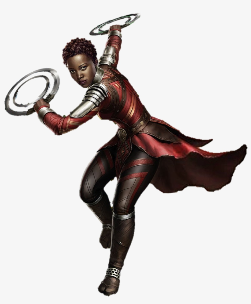 Black Panther Characters Png Nakia Black Panther Art Png Image Transparent Png Free Download On Seekpng