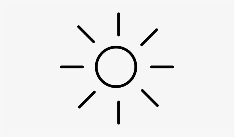Shining Sun With Rays Silhouette Vector - Icon PNG Image