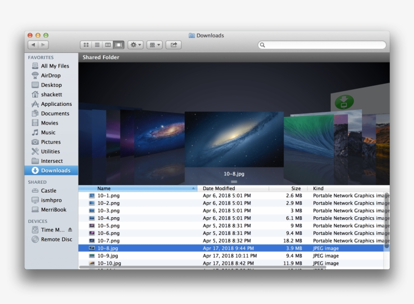 10 8 Mountain Lion Finder Cover Flow - Itunes 11 Cover Flow PNG