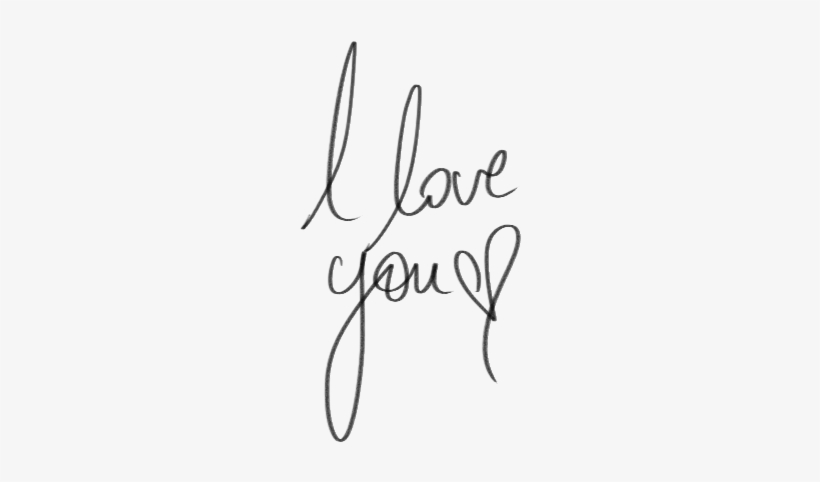 I Love You Tumblr Png Vector Black And White Download - Love