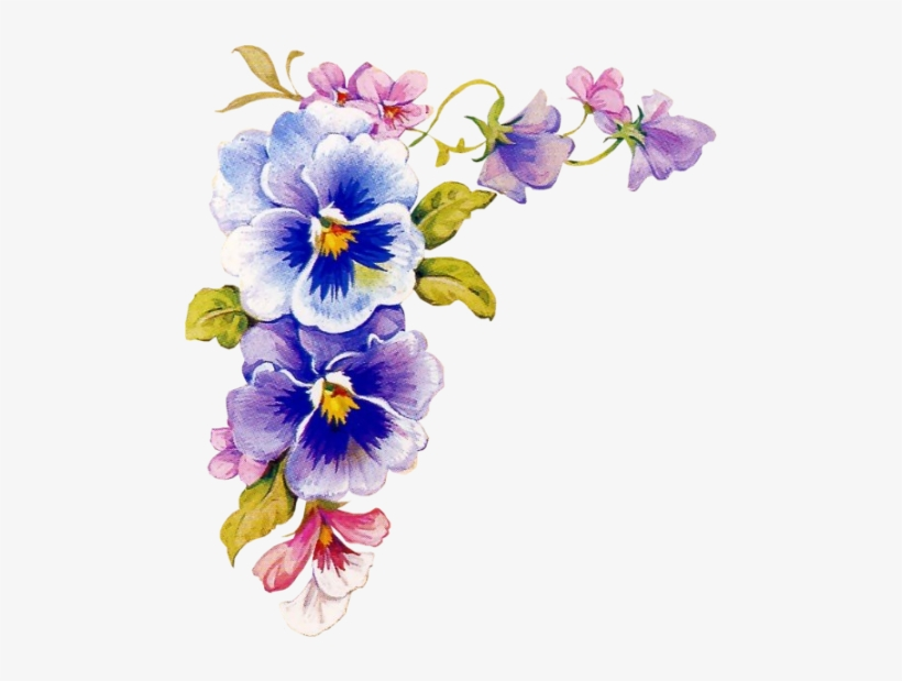 Marcos Esquineros Para Fotos De Flores: Esquineros De Flores Png