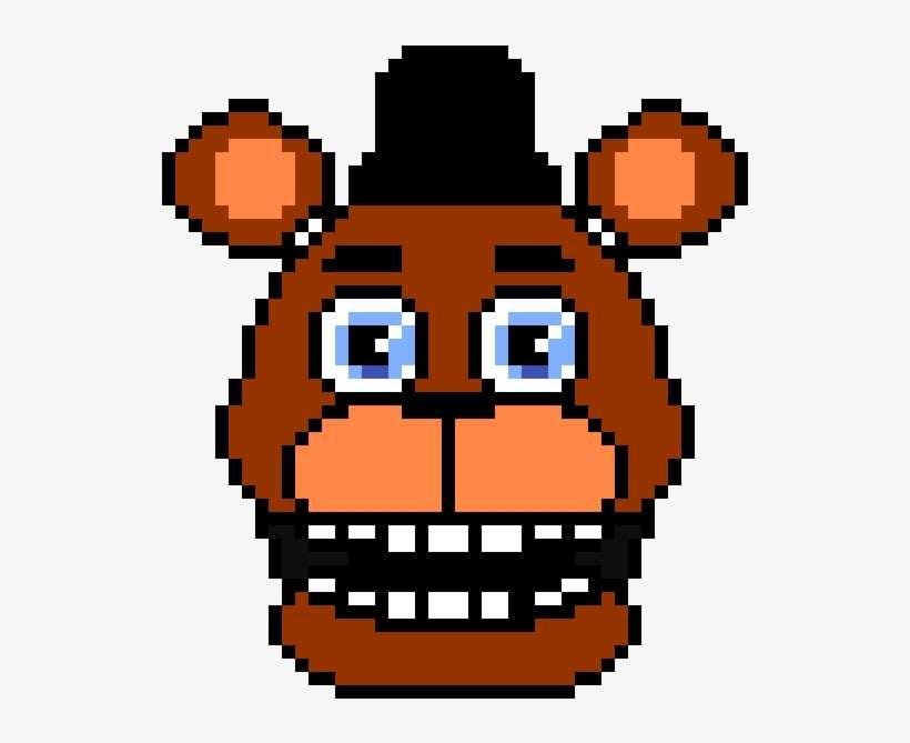 Freddy Fazbear Head - Pixel Arts Golden Freddy PNG Image